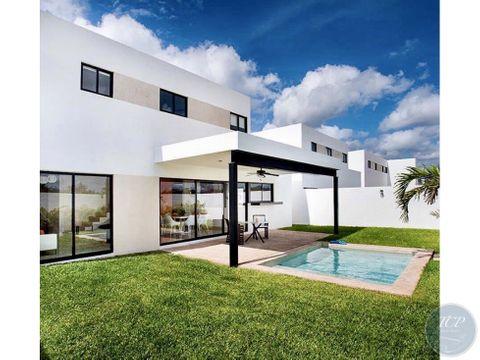 casa en renta real montejo 3 habitaciones y piscina amueblada