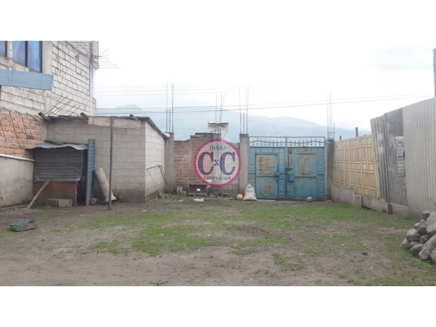cxc venta casa terreno y local comercial cutuglagua exp 3695