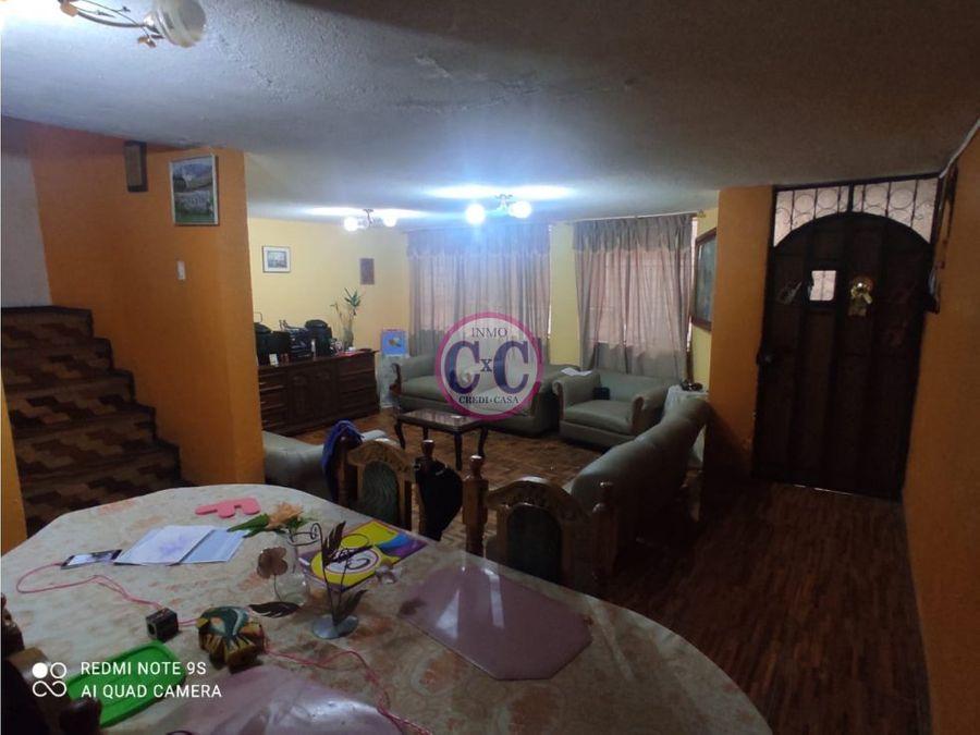 cxc venta casa independiente solanda exp 3693