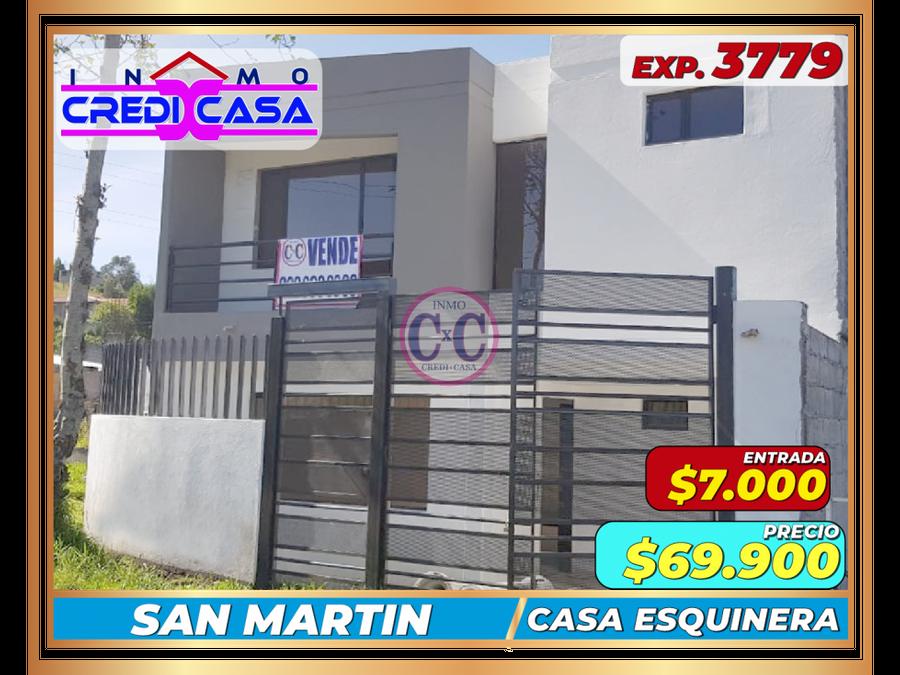 cxc venta casa esquinera san martin exp 3779
