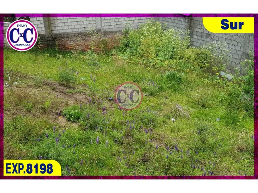 cxc venta de terreno chillogallo exp8198