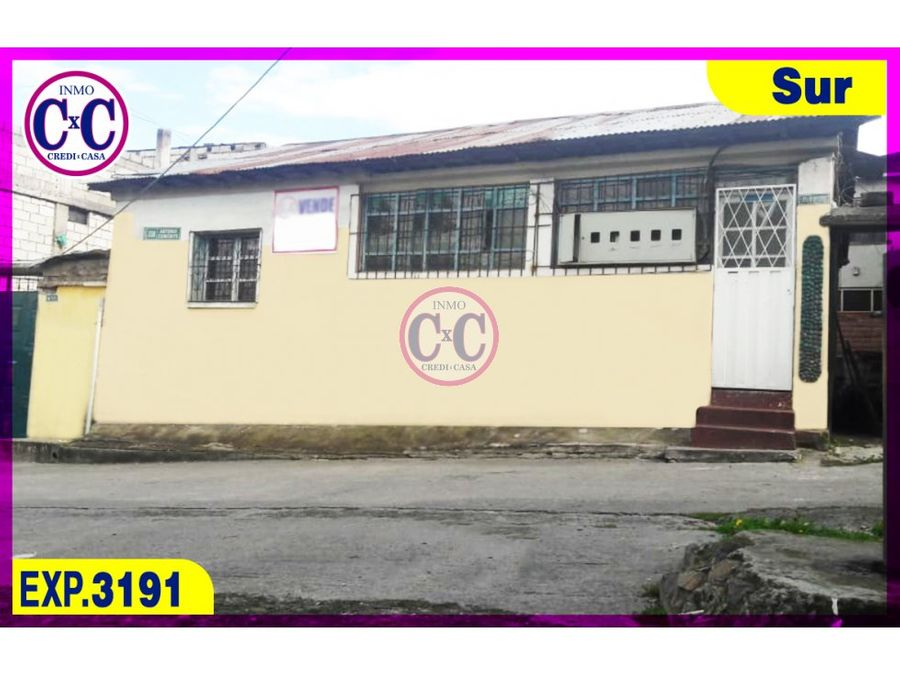 cxc venta casa santa martha exp3191