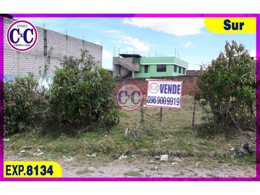 cxc venta terreno guamani exp 8134