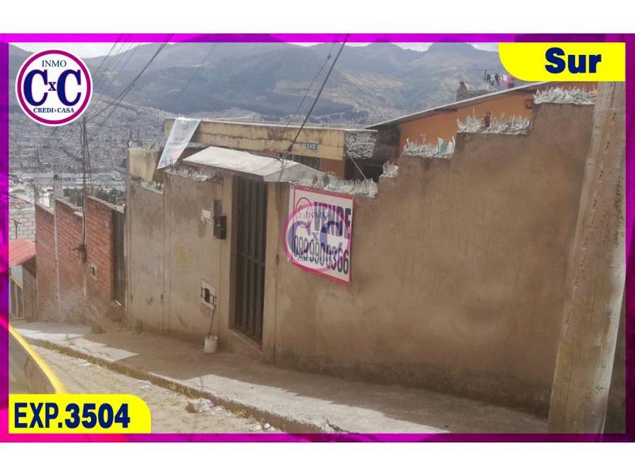 cxc venta casa terreno lucha de pobres exp 3504