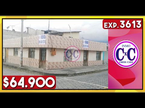 cxc venta casa independiente esquinera cdla ibarra exp 3613