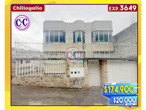 cxc venta casa independiente chillogallo exp 3649