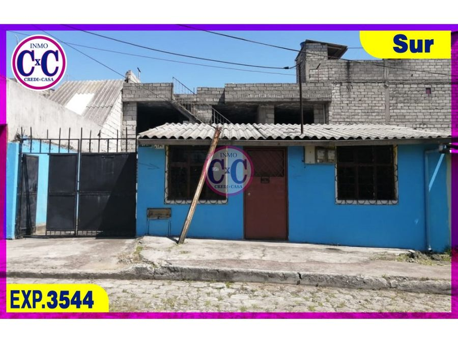 cxc venta casa independiente quito sur exp 3544