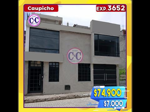 cxc venta casa independiente caupicho exp 3652