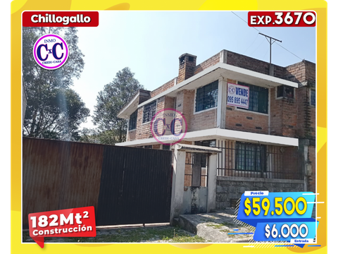 cxc venta casa independiente chillogallo exp 3670