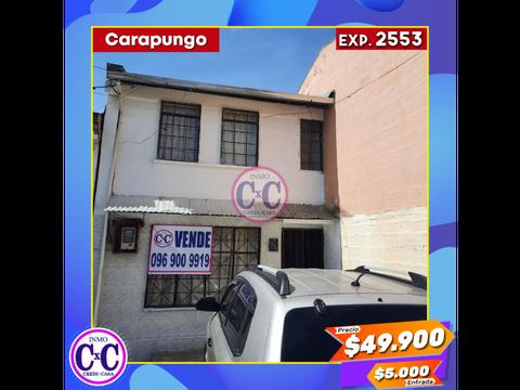 cxc venta casa independiente carapungo exp 2553