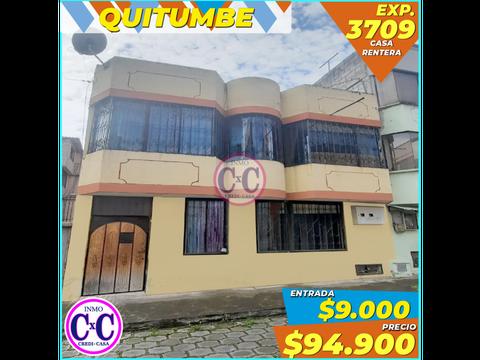 cxc venta casa rentera quitumbe 3709