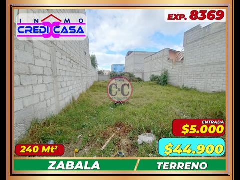 cxc venta terreno plano zabala exp 8369