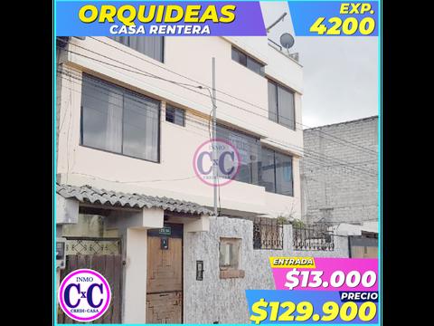 cxc venta casa rentera orquideas exp 4200