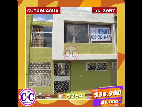 cxc venta casa duplex cutulagua exp 3657