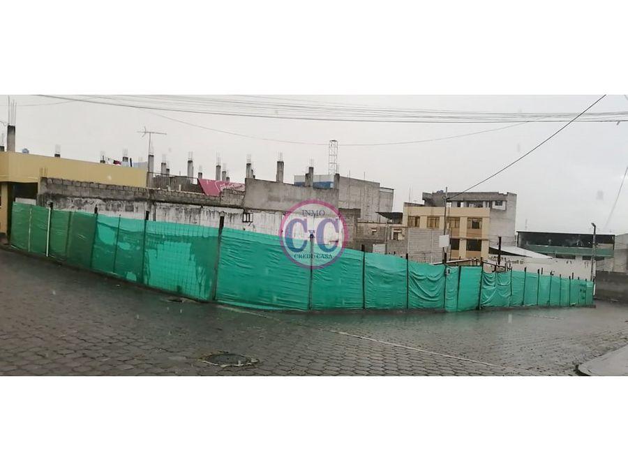 cxc venta terreno esquinero guamani exp 8288