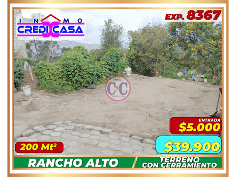 cxc venta terreno rancho alto exp 8367