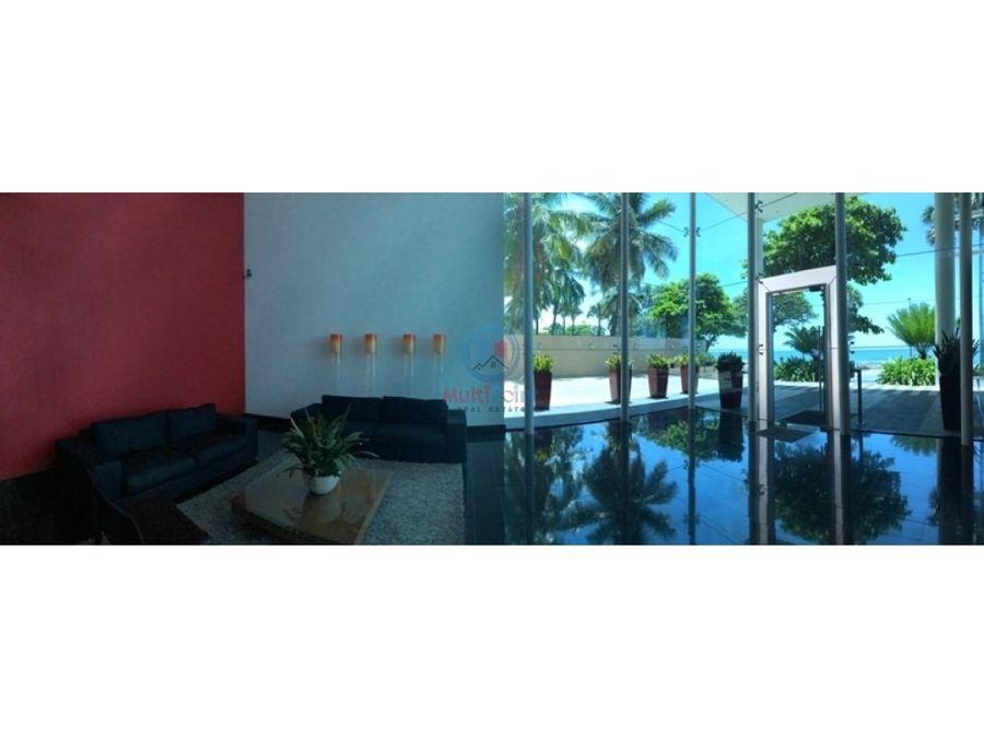 apartamento con linea blanca y vista al mar