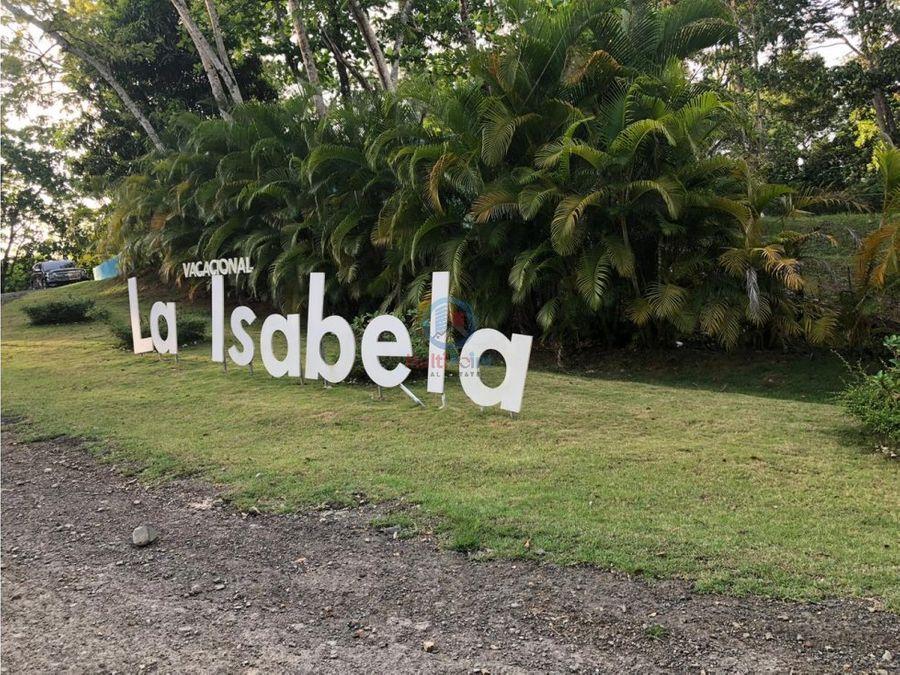 terreno en venta en el vacacional la isabela
