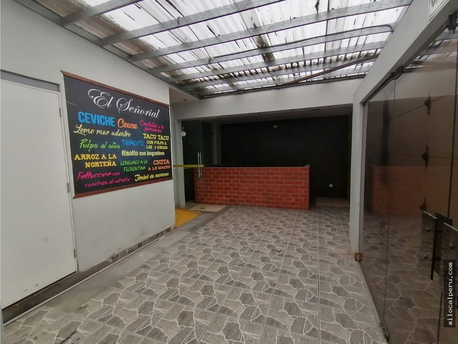 local comercial en av caminos del inca