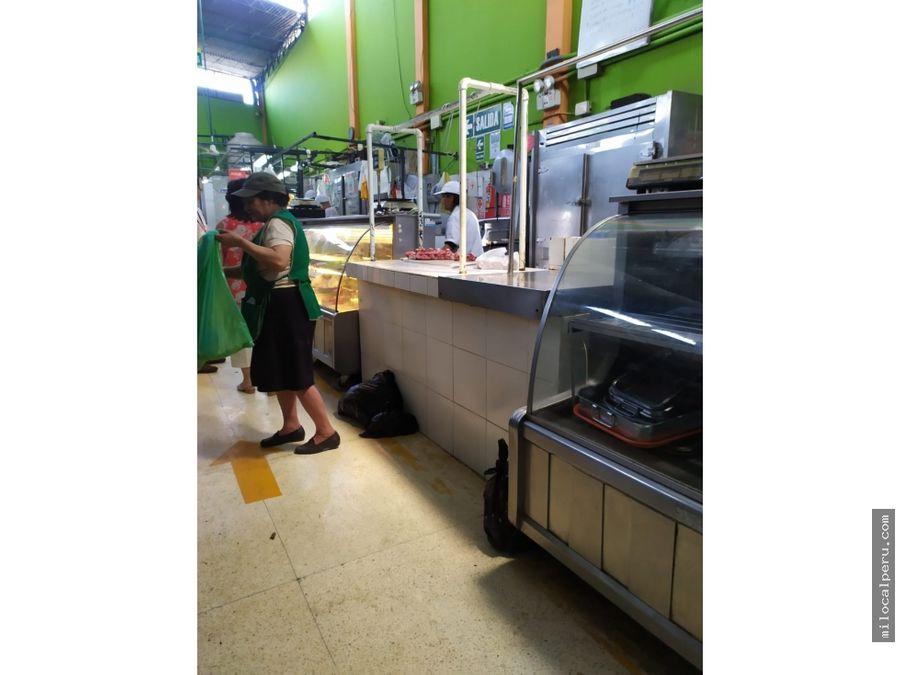 local de carnes en mercado de surco