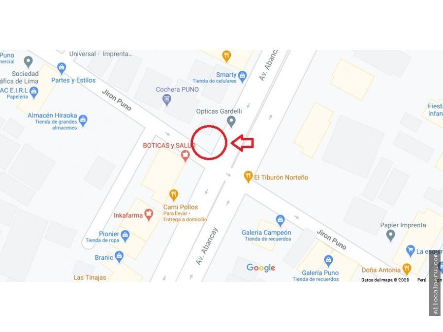 esquina mas transitada de avenida abancay