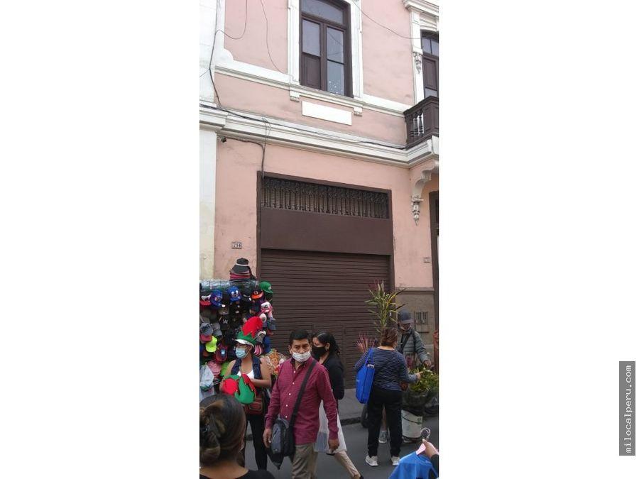 local comercial en jr andahuaylas