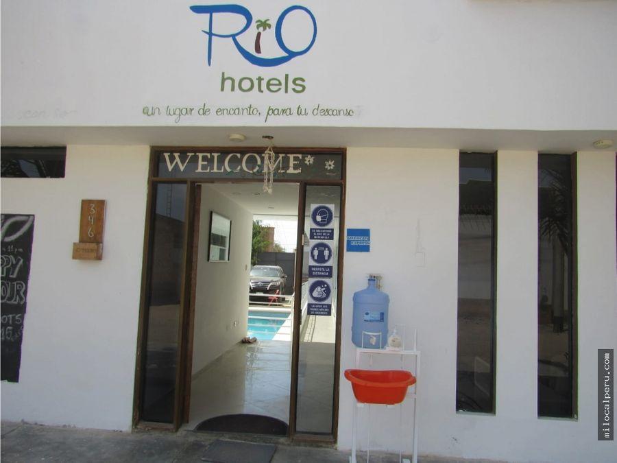 hotel concurrido en mancora en venta