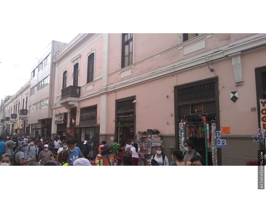 local comercial en jr andahuaylas buena ubicacion