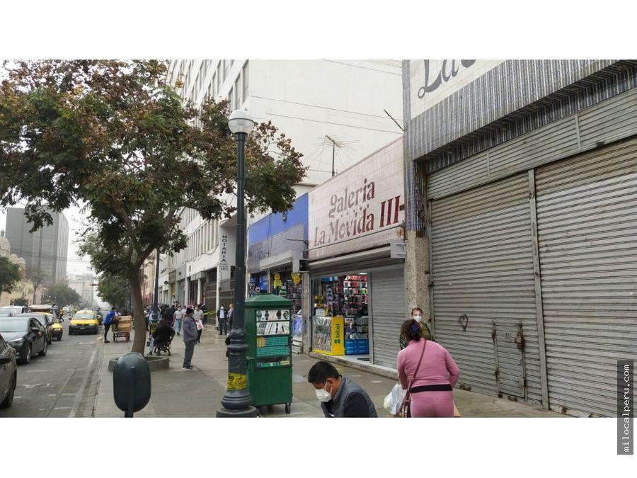 local comercial en alquiler jiron cuzco