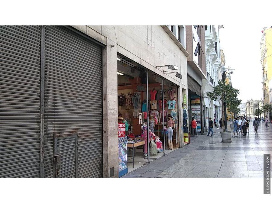local comercial en jiron de la union 65 mt2 centro de lima
