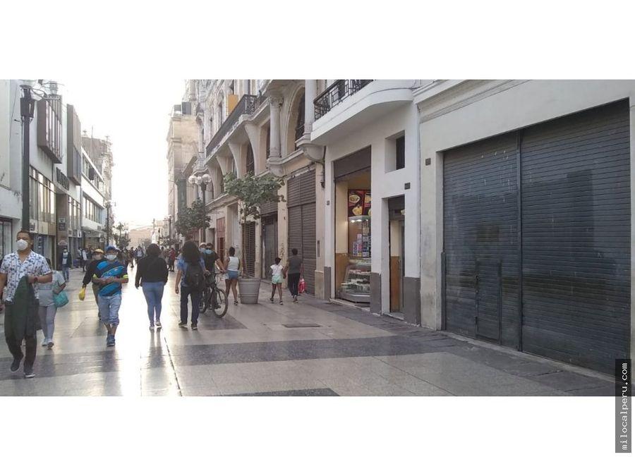 local comercial en alquiler en jiron de la union centro de lima