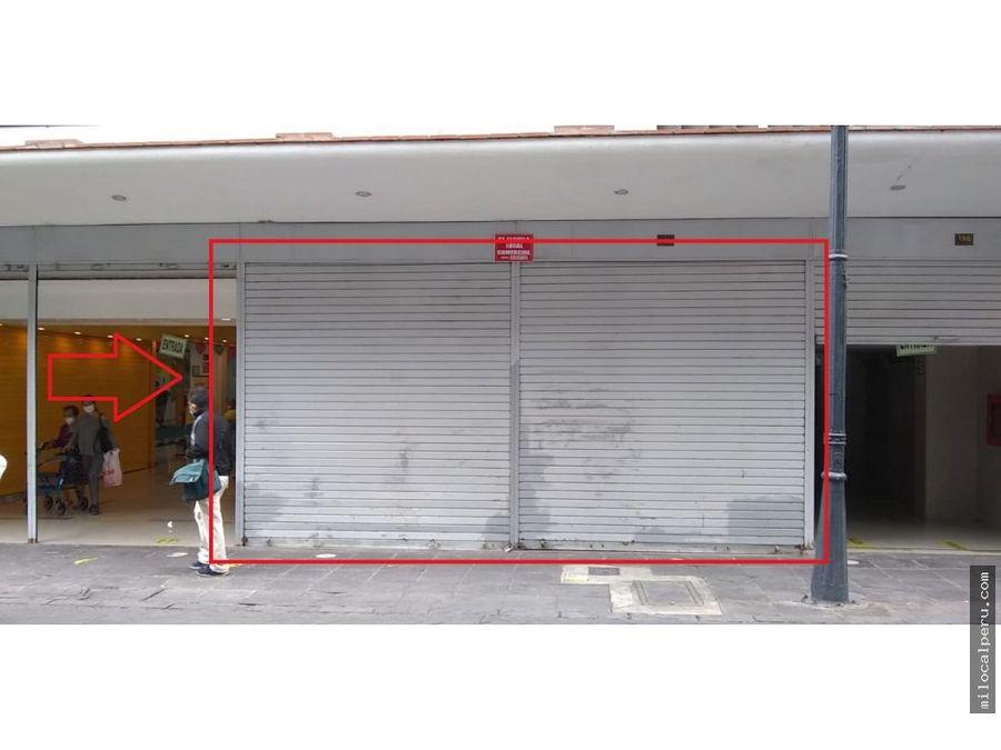 local comercial en jiron ica alquiler
