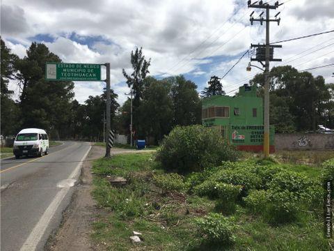 terreno de 17017 m2 a pie de carretera mexico teotihuacan