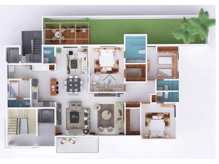 apartamento con patio en venta een santiago wpa106 a