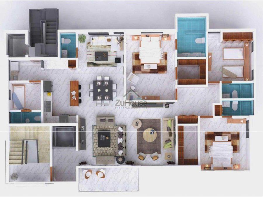 apartamento en venta en santiago wpa106 b
