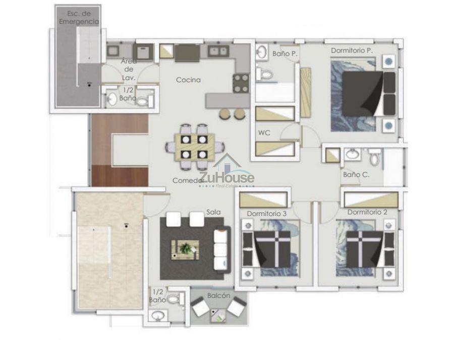 apartamento en venta en villa maria za03 b