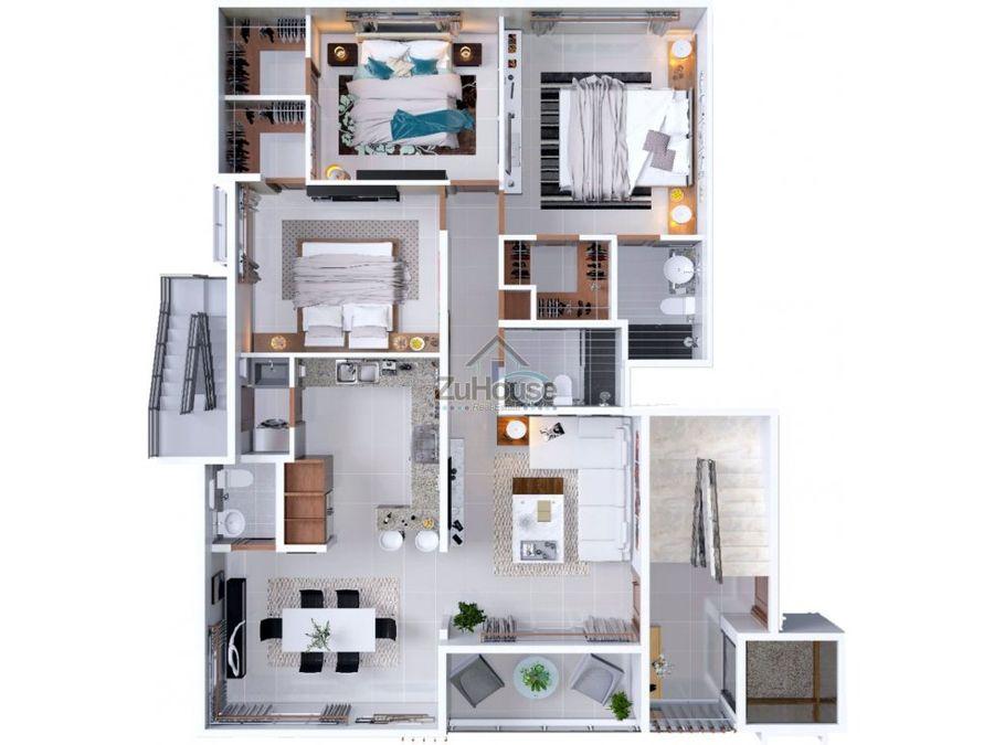 penthouse en venta en planos en torre de villa maria wpa04 b6