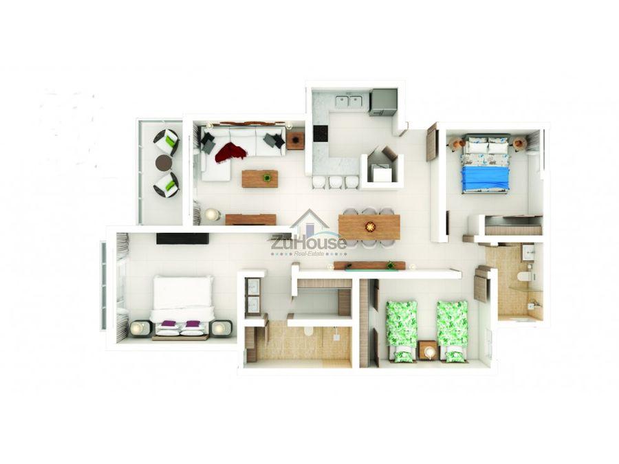 apartamento en venta en punta cana wpa136 e