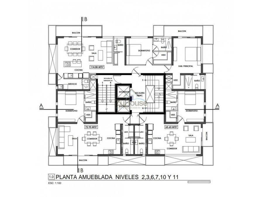 apartamento en venta la esmeralda santiago za11 d