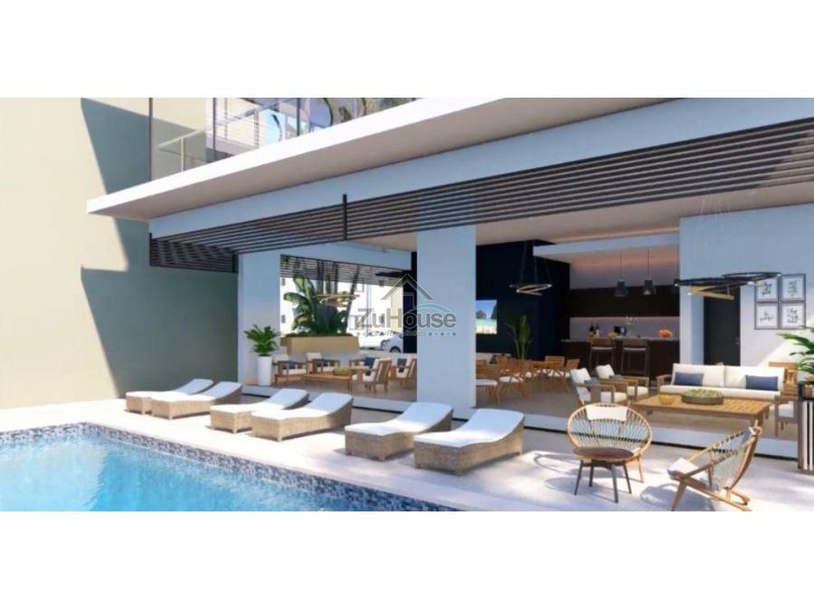 apartamentos en venta en res con piscina en gurabo santiago wpa15b