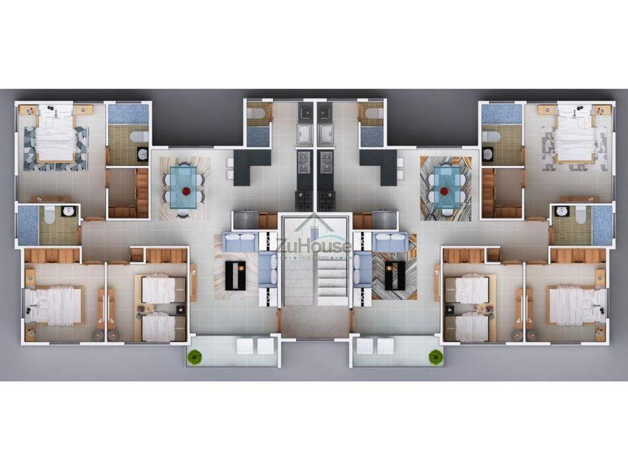 apartamento en venta en llanos de gurabo wpa32 c