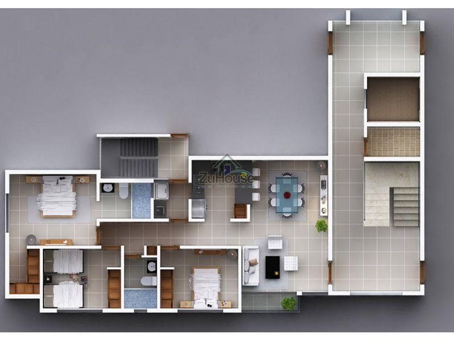 apartamento en venta 2do3er nivel padre las casas wpa65 a2