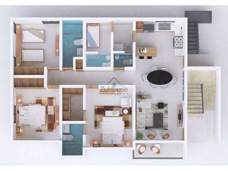 apartamento en venta reparto consuelo stgo za23 j