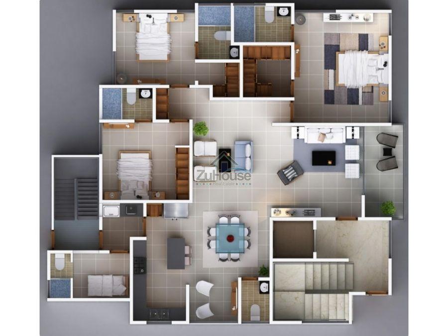 apartamento en venta en planos en torre de cerros de gurabo wpa01 b
