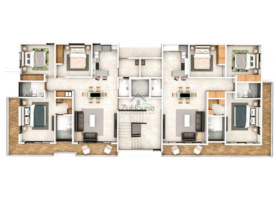 apartamentos en venta en planos en torre en thomen santiago wpa20 a2