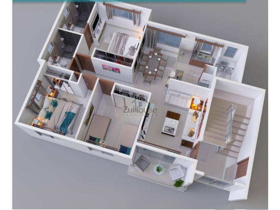apartamento en venta en planos en carretera santiago licey wpa32 c