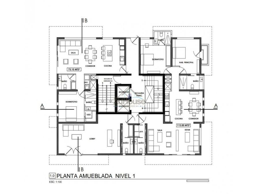 apartamento en venta la esmeralda santiago za11 c