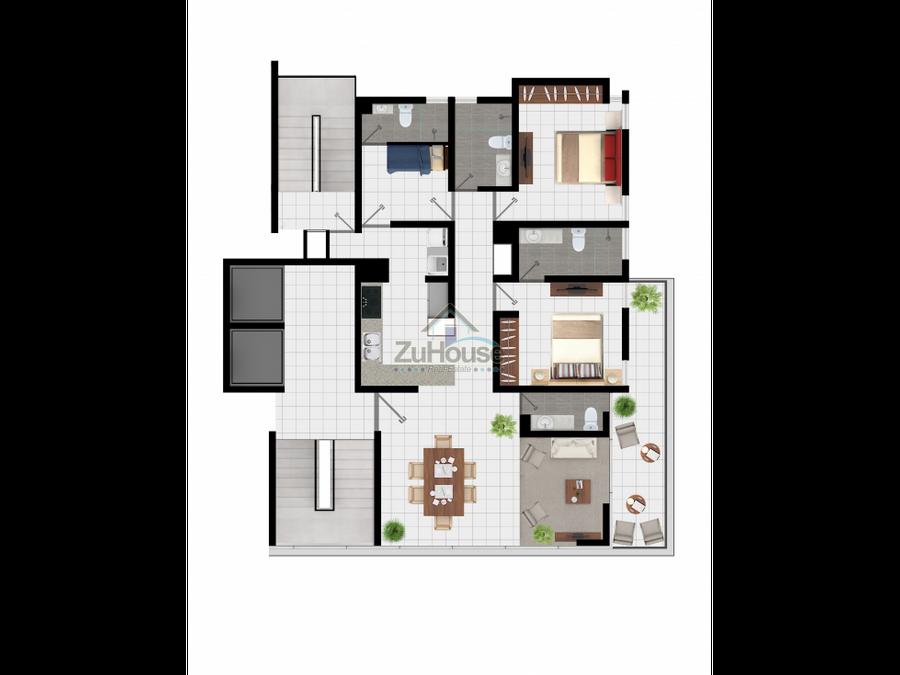 apartamento en venta en la esmeralda santiago wpa42 a