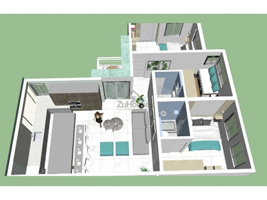 hermoso proyecto de apartamentos y villas en punta cana za03