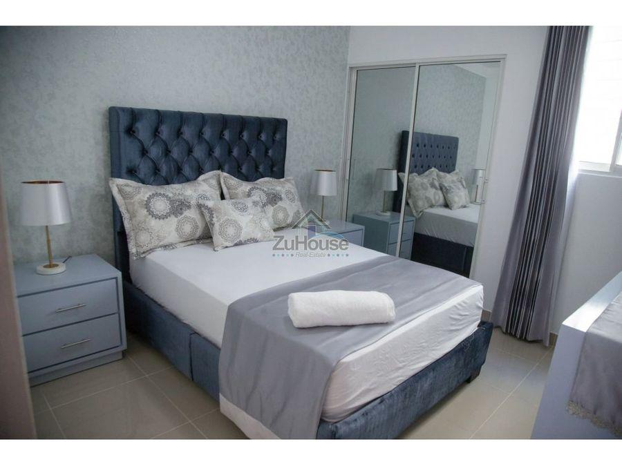 apartamento amueblado en alquiler en res con piscina santiago awpa02